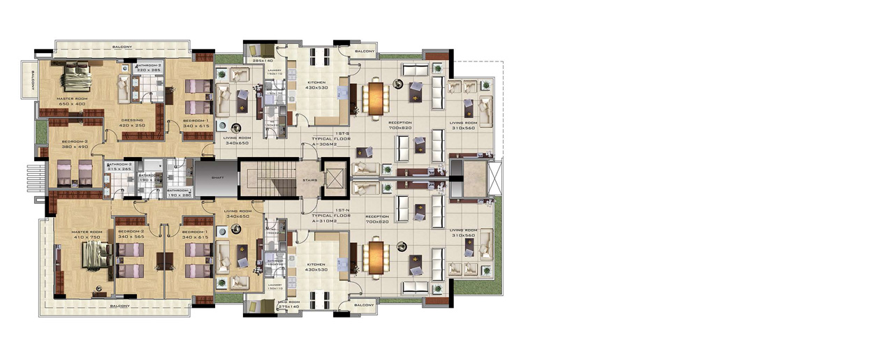 Apartments for sale in Monteverde 4584 first floor plan