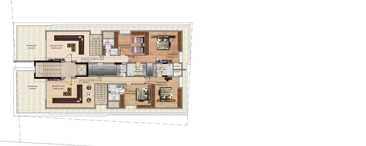 MCP 5159 Duplex Upper fFloor